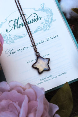 Opalite Star Shaped Necklace with Aged Copper
